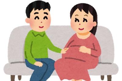 妊娠を喜ぶ夫婦